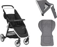 BABYSTYLE OYSTER Lite kočárek, silver + Adaptér na autosedačku + Colour pack, slate grey (2017)