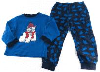 Pyžamo klasické rovné nohavice TCM