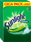 SUNLIGHT Classic Regular 100 szt. – tabletki do zmywarki