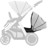 BABYSTYLE OYSTER MAX Kočárek Lie-Flat Tandem colour pack, pure silver 2018