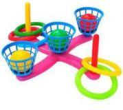 TEDDIES Házecí hra kříž s košíky, plast