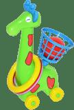 WIKY Žirafa s krúžkami a košíkom
