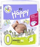 BELLA HAPPY Before Newborn 0 (do 2 kg) 46 ks - jednorázové pleny