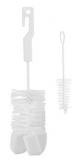 CANPOL BABIES Kartáč na čištění lahví s hubkou – bílá - různé druhy