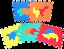 WIKY Puzzle piankowe Dinozaury 10 szt.