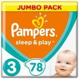 PAMPERS Sleep&Play 3 MIDI 78ks (6-10kg) JUMBO PACK - jednorázové pleny