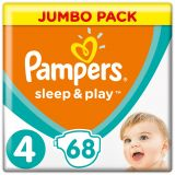 PAMPERS Sleep&Play 4 MAXI 68 szt. (9-14 kg), JUMBO PACK - pieluchy jednorazowe