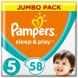 PAMPERS Sleep&Play 5 JUNIOR 58ks (11-16 kg) JUMBO PACK - jednorázové pleny