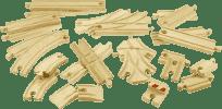 BIGJIGS RAIL Dřevěné koleje vláčkodráhy - Set 25 dílů