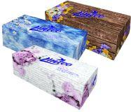 LINTEO Satin Papírové kapesníky box, bílé, 150ks, 2 vrstvé