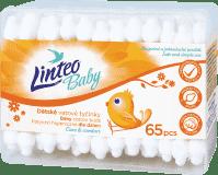 LINTEO Baby Vatové tyčinky 65 ks, box
