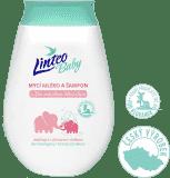 LINTEO Baby Dětské mycí mléko a šampón s Bio měsíčkem lékařským, 250 ml