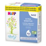 HIPP Babysanft Ultra sensitive vlhčené obrúsky bez parfumu (4 x 52 ks)