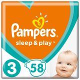 PAMPERS Sleep&Play 3 MIDI 58ks (6-10 kg) - jednorázové pleny