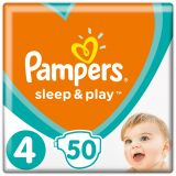 PAMPERS Sleep&Play 4 MAXI 50 szt. (9-14 kg), VALUE PACK - pieluchy jednorazowe