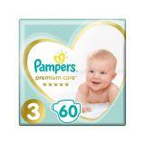 PAMPERS Premium Care 3 MIDI 60 ks (6-10 kg) - jednorazové plienky