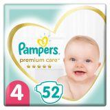 PAMPERS Premium Care jednorázové pleny, vel. 4, 52 ks, 9-14 kg