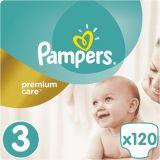 PAMPERS Premium Care 3 MIDI 120ks (5-9 kg) MEGA Box - jednorazové plienky