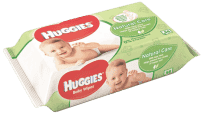 HUGGIES® Single Natural Care 56 ks - vlhčené ubrousky