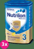 3x NUTRILON 3 ProNutra s příchutí vanilky (800g) - kojenecké mléko