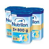 3 x NUTRILON 3 Vanilla batoľacie mlieko 800 g, 12+