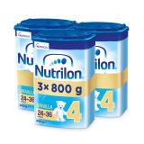 3 x NUTRILON 4 Vanilla batolecí mléko 800 g, 24+