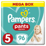 PAMPERS Pants 5 JUNIOR 96 szt. (12-17 kg), MEGA BOX - pieluchomajtki