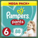 PAMPERS Pants 6, 88ks (15+ kg) MEGA Box - plenkové kalhotky