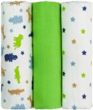 T-TOMI Tetra pleny, zelení krokodýli, sada 3 kusů - Top kvalita