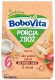BOBOVITA Porcja Zbóż Kaszka mleczna kukurydziano-ryżowa 3 owoce 6m+ (210 g)