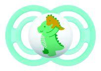 MAM Dudlík Perfect 16m+, silikon zelený dinosaurus