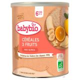 BABYBIO Nemléčná ovocná kaše (3 druhy ovoce) 220 g