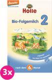 3x HOLLE Bio Pokračovací mléčná kojenecká výživa 2, 600 g