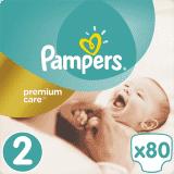 PAMPERS Premium Care 2 MINI 80 szt. (3-6kg), VALUE PACK - pieluchy jednorazowe