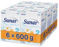 6x SUNAR Premium 2 (600 g) - kojenecké mléko