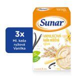 3x SUNAR Vanilková kašička (225 g) - mléčná kaše