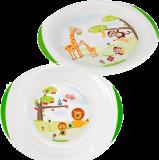 CHICCO Jídelní set talíř a miska, 12m+