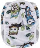 T-TOMI Plenkové plavky, bílé sovy, velikost S (5-8 kg)