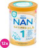 12x NESTLÉ NAN OPTIPRO H.A. 1 (400 g) Hipoalergiczne mleko początkowe dla niemowląt od urodzenia