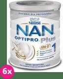 6x NESTLÉ NAN OPTIPRO Plus 1 HM-O (800 g) Mleko początkowe w proszku dla niemowląt od urodzenia 0+