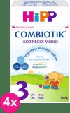 4x HIPP 3 JUNIOR Combiotik (600 g) – dojčenské mlieko