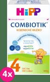 4x HIPP 4 JUNIOR Combiotik (600 g) – dojčenské mlieko