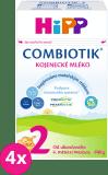 4x HIPP 2 BIO Combiotik (600 g) – dojčenské mlieko