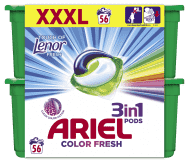 ARIEL Touch of Lenor Fresh All in 1 (56ks) – gélové pracie kapsuly