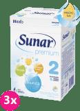 3x SUNAR Premium 2 (600 g) - kojenecké mléko