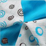 KIKKO Bambusové ubrousky Spirals&Bubbles 30x30 (9 ks) – cyan