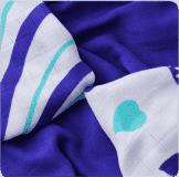 KIKKO Bambusowe chusteczki Hearts&Waves 30x30 (9 szt.) – ocean blue