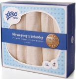 KIKKO Dziecięce pieluszki z biobawełny Retro 70x70 (5 szt.) – natural
