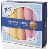 KIKKO Detské plienky z biobavlny Staré časy 70x70 (5 ks) – pastels pre dievčatká