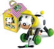 VILAC Dřevěná tahací kravička s domečkem